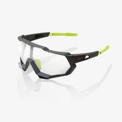 bcc8c7c5e 100% cyklistické okuliare Speedtrap Soft Tact Cool Grey Photochromic sklá