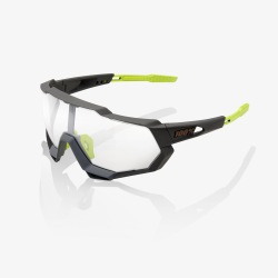 100% okuliare Speedtrap Soft Tact Cool Grey Photochromic sklá