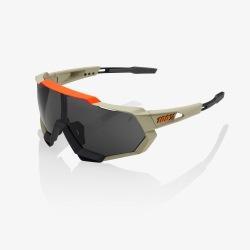 100% okuliare Speedtrap Soft Tact Quicksand dymové sklá