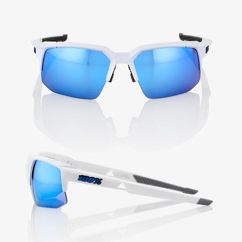 fb6fda3f8 ... 100% cyklistické slnečné okuliare Speedcoupe Matte White HiPer modré zrkadlové  sklá ...