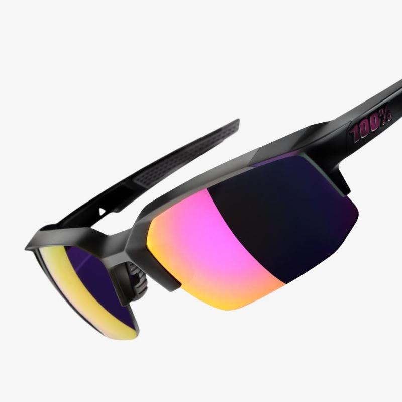 bf04ca35b 100% cyklistické slnečné okuliare Speedcoupe Soft Tact Graphite fialové zrkadlové  sklá ...