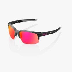 100% cyklistické slnečné okuliare Speedcoupe Soft Tact Graphite fialové zrkadlové sklá