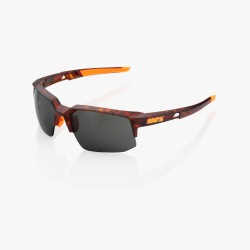 100% cyklistické slnečné okuliare Speedcoupe Soft Tact Black dymové sklá