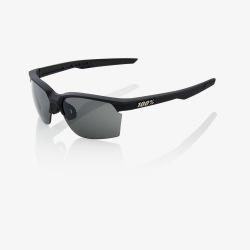 100% okuliare Sportcoupe Soft Tact Black dymové sklá