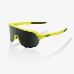 100% cyklistické okuliare S2 Soft Tact Banana šedo zelené sklá