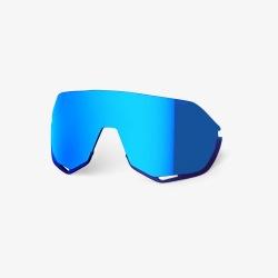 100% náhradné sklo S2 Hiper modré zrkadlové