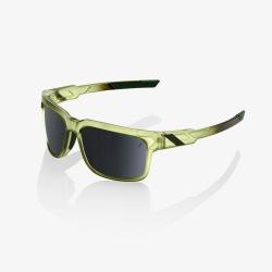 100% slnečné okuliare Type-S Matte Translucent Olive Slate čierne zrkadlové sklá