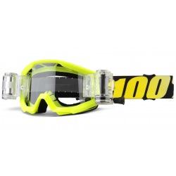 100% detské okuliare Strata MX MTB Roll off Goliath - číre sklá