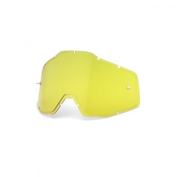 100% náhradné sklo Racecraft/Accuri/Strata HD žlté Antifog / Injected