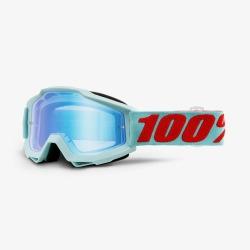 100% okuliare Accuri MX MTB Maldives modré zrkadlové sklá 2019
