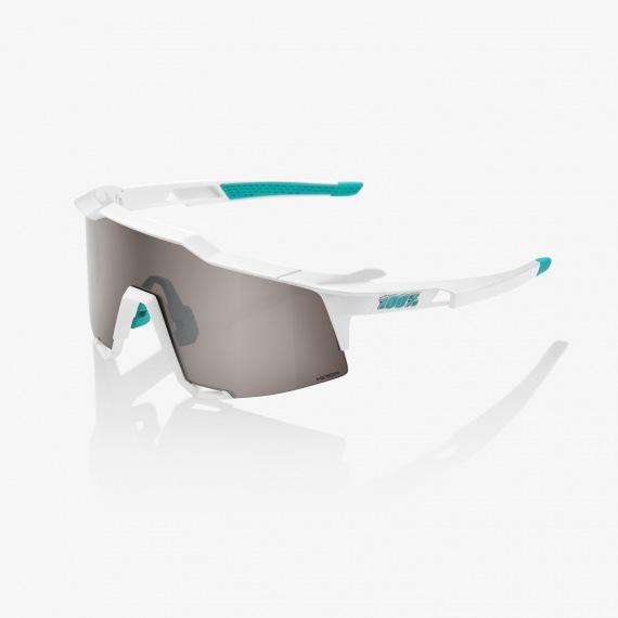 100% okuliare Speedcraft SE BORA Hansgrohe Team White HiPER strieborné zrkadlové sklá