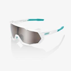 100% okuliare Speedtrap SE BORA Hansgrohe Team White HiPER strieborné zrkadlové sklá