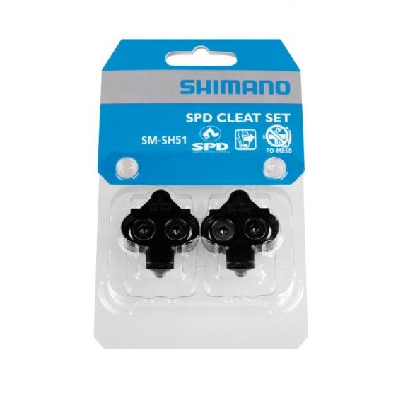 Zarážky SM-SH51 na pedále čierne bez plátu do tretier
