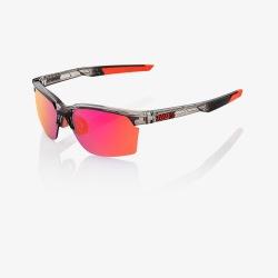 100% okuliare Sportcoupe Polished Translucent Crystal dymové fialové zrkadlové sklá