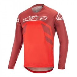 ALPINESTARS dres Racer V2 LS BURGUNDY/BRIGHT RED/WHITE
