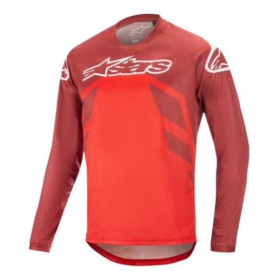 ALPINESTARS dres Racer V2 LS BURGUNDY/BRIGHT RED/WHITE