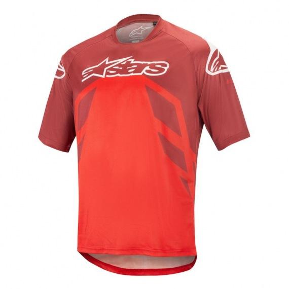 ALPINESTARS dres Racer V2 SS BURGUNDY/BRIGHT RED/WHITE
