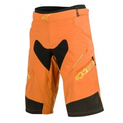 ALPINESTARS Kraťasy s cyklovložkou Drop 2 BRIGHT ORANGE ACID YELLOW