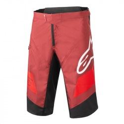 ALPINESTARS kraťasy bez cyklovložky Racer BURGUNDY/BRIGHT RED/WHITE