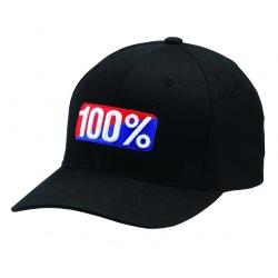 """100% šiltovka """"CLASSIC"""" X-FIT Flexfit Black"""