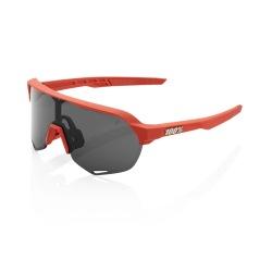 100% okuliare S2 Soft Tact Coral dymové sklá