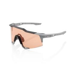 100% okuliare Speedcraft Soft Tact Stone Grey HiPER Coral sklá