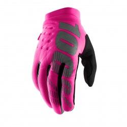 100% dámske rukavice Brisker Black/Grey