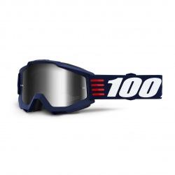 100% okuliare Accuri MX MTB ART DECO strieborné zrkadlové sklá