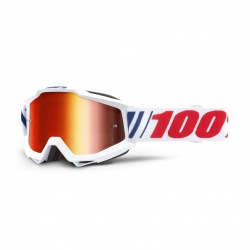 100% okuliare Accuri MX MTB AF066 červené zrkadlové sklá
