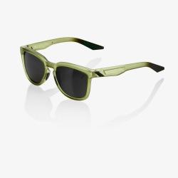 100% slnečné okuliare Hudson MATTE TRANSLUCENT OLIVE SLATE čierne zrkadlové sklá