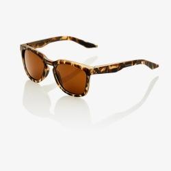 100% slnečné okuliare Hudson SOFT TACT HAVANA bronzové sklá