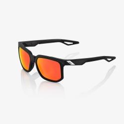 100% slnečné okuliare Centric Soft Tact CRYSTAL BLACK HIPER červené zrkadlové sklá