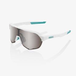 100% okuliare S2 BORA HANS GROHE TEAM WHITE HiPer strieborné zrkadlové sklá