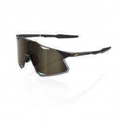 100% okuliare HYPERCRAFT Matte Black zlaté zrkadlové sklá