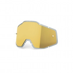 100% náhradné sklo Racecraft/Accuri/Strata zlaté/zrkadlové Antifog / Injected