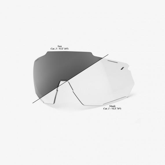 100% náhradné sklo RACETRAP PHOTOCHROMIC CLEAR/SMOKE