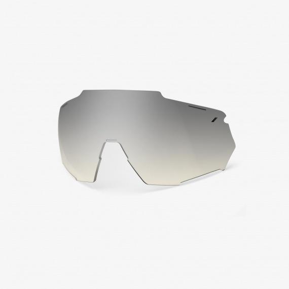 100% náhradné sklo RACETRAP čierne zrkadlové