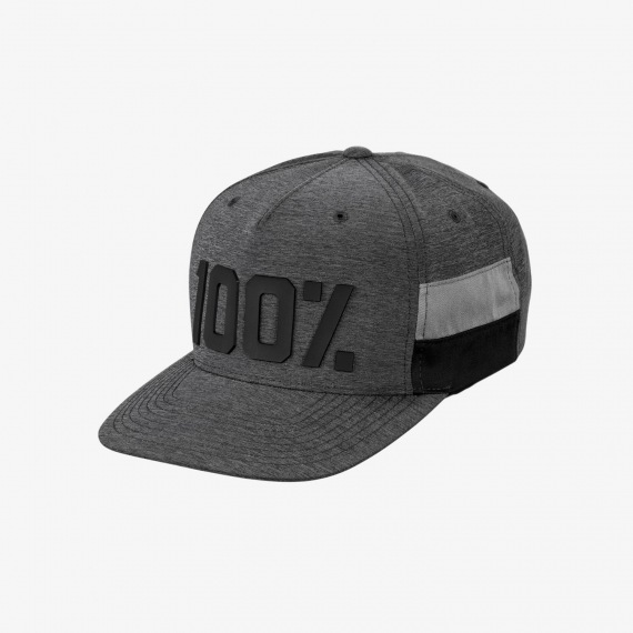 100% šiltovka ENTERPRISE SnapBack CHARCOAL