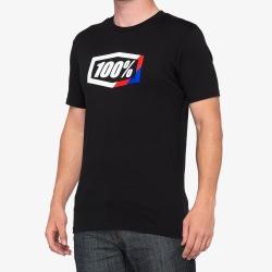 100% tričko STRIPES Black