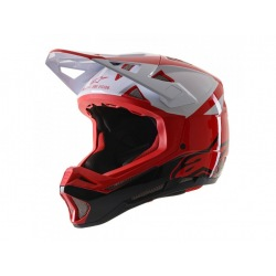 ALPINESTARS prilba Missile PRO Cosmos Red White Glossy
