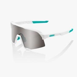 100% okuliare S3 Soft Tact White HiPER Multilayer červené zrkadlové sklá