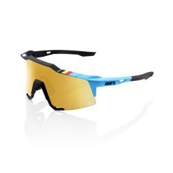 100% okuliare Speedcraft BWR BLACK zlaté zrkadlové sklá