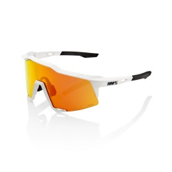 100% okuliare Speedcraft OFF WHITE Hiper Multilayer červené zrkadlové sklá