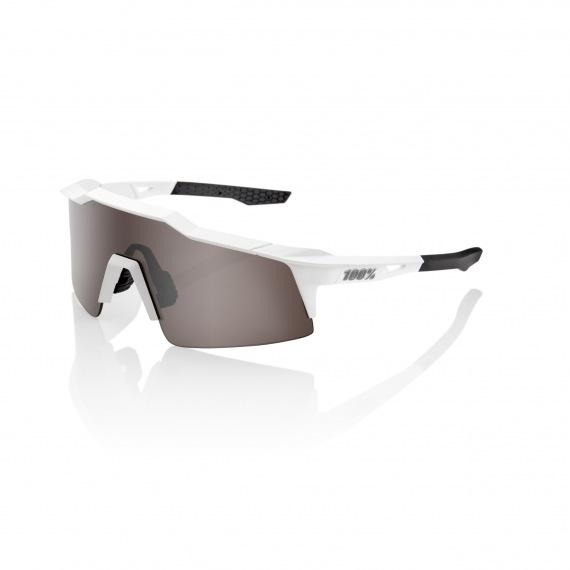 100% okuliare Speedcraft SL MatteWhite HiPer strieborné zrkadlové sklá