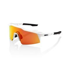 100% okuliare Speedcraft SL SOFT TACT OFF WHITE HiPer MULTILAYER červené zrkadlové sklá