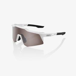 100% okuliare Speedcraft SL Matte White HiPer strieborné zrkadlové sklá