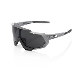 100% okuliare Speedtrap Soft Tact Stone Grey dymové sklá