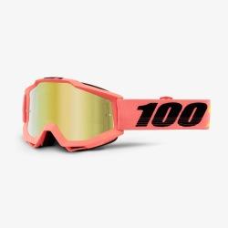 100% okuliare Accuri MX MTB Minima červené zrkadlové sklá