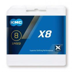 KMC reťaz X-8 strieborná 7-8 kolo
