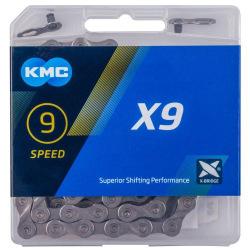 KMC reťaz X-9.73 9 kolo šedá